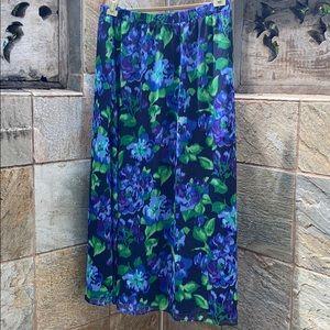 Isaac MIZRAHI Live Floral Maxi Skirt